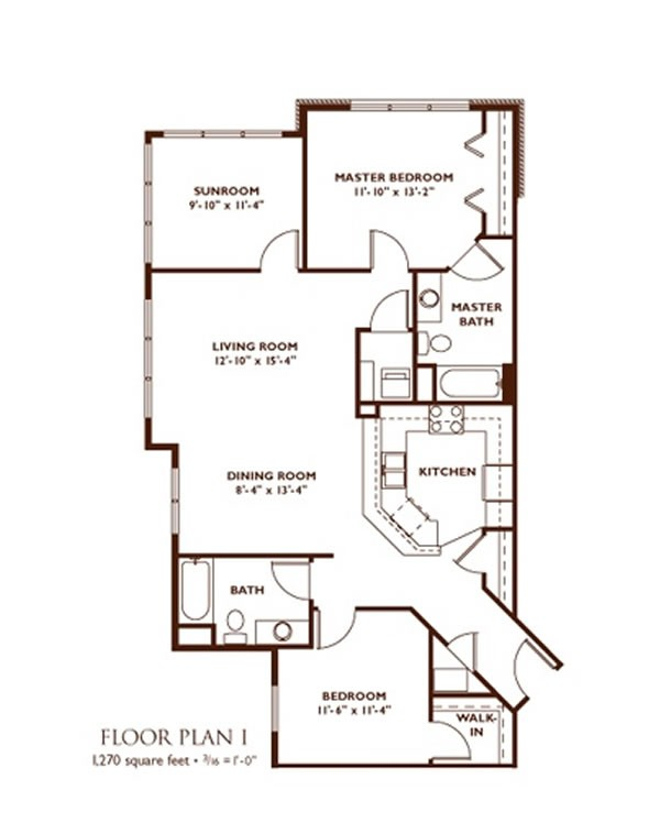 2 Bedroom Floor Plan   Plan I ...