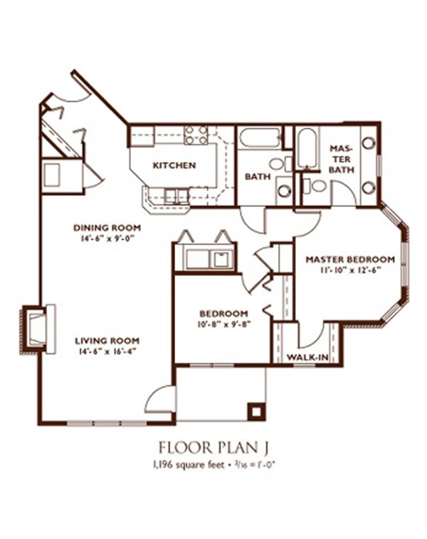 2 Bedroom Floor Plan   Plan J ...