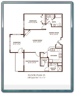 2 Bedroom Floor Plan - Plan D