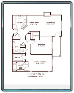 2 Bedroom Floor Plan - Plan D1