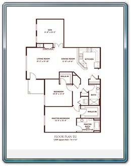 2 Bedroom Floor Plan - Plan D2