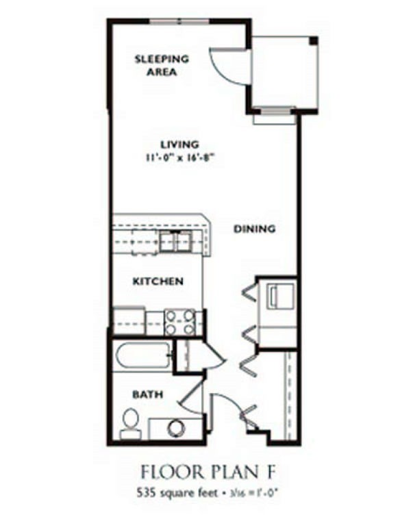 Nice Studio Floor Plan   Plan F ...