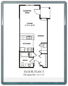 Studio Floor Plan   Plan F