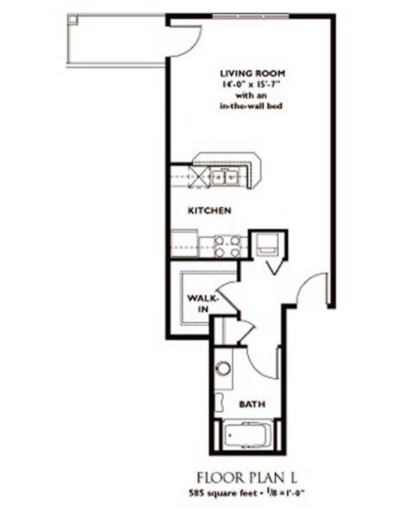 Directions to nantucket luxury apartments in madison wisconsin for Studio apartment floor plans pdf